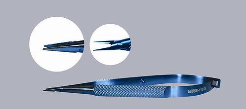 Straight Needle Holder, 0.6mm Closed Width Tip