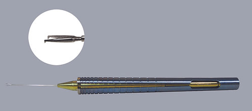 ISOCLEAN™ 23ga Iridectomy Forceps, Straight Shaft