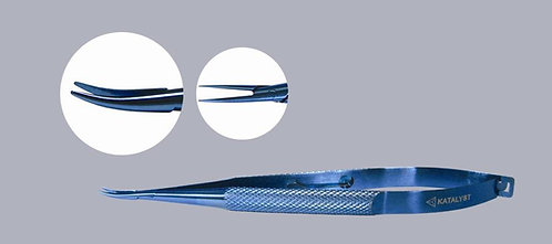 Barraquer Curved Needle Holder