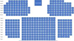 Cхема конференц-зала Искра Холл в PDF