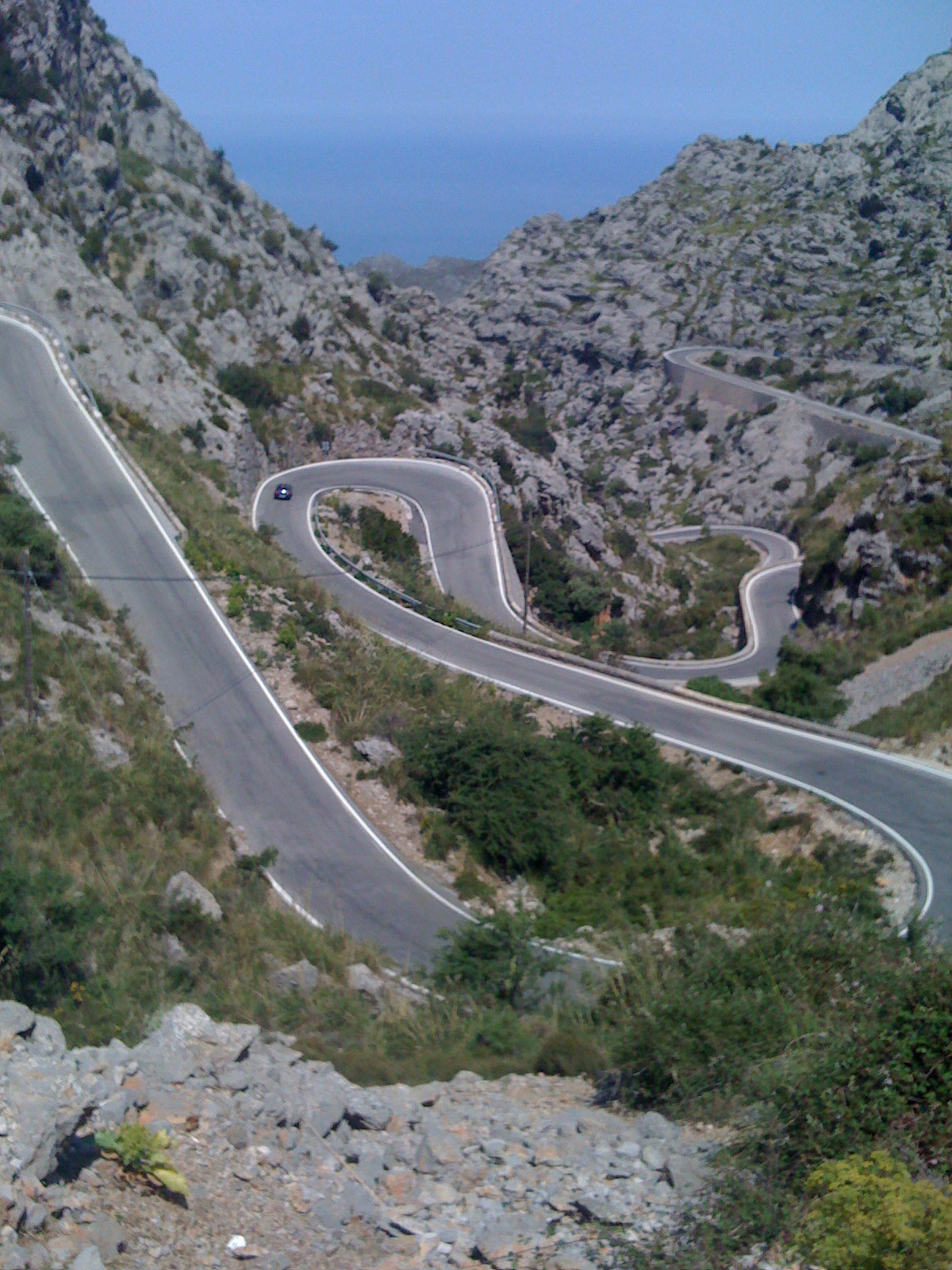 Hairpin bends to Sa Calobra