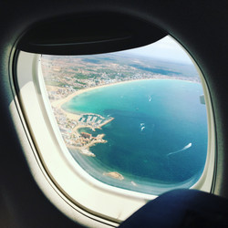 Port de Pollensa from the airplane