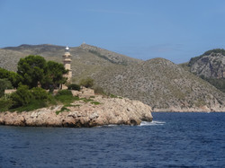 Taking a boat to Formentor