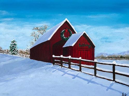 """Sun Valley Barn 2"" - original painting"