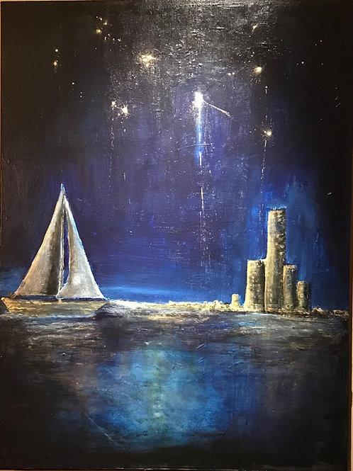 """Sailing by Starlight"" - Original Painting"