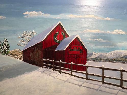 """Sun Valley Barn 3"" - original painting"
