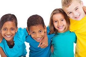 group of multiracial kids portrait in st