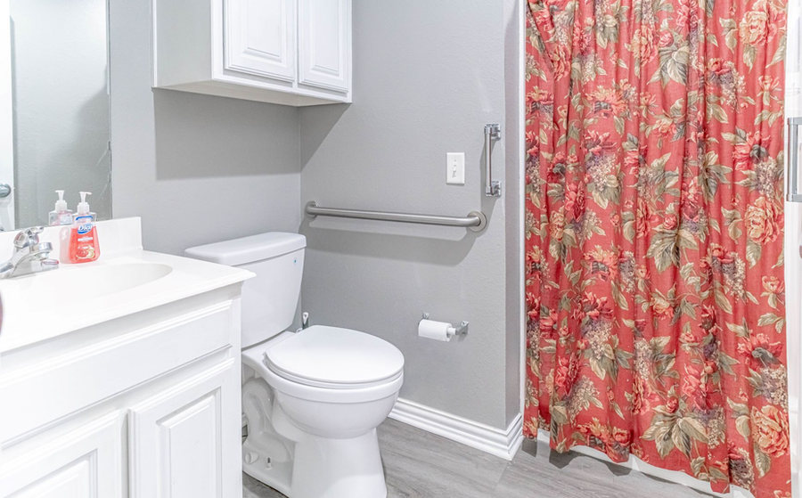 Private bathroom with each suite