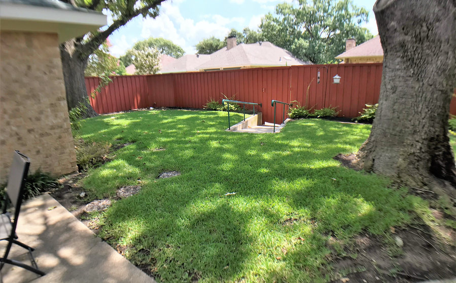 Backyard with ramp entrance