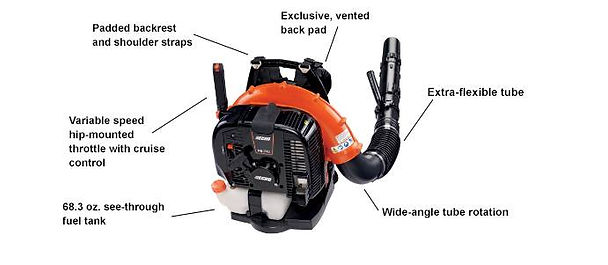 Echo PB-770H 63.3 cc Professional Grade Backpack Blower At Seven Gables