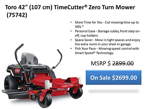 Toro TimeCutter 42 Zero Turn 75742 For Sale At Seven Gables Power Equipment In The Smithtown, Commack, Kings Park, Northport, East Northport, Dix Hills, Huntington, Melville, Central Islip, Islip, East Islip, Bayshore, Hauppauge, Ronkonkoma, Lake Ronkonkoma, St James, Setauket, Stony Brook, Lake Grove, Centereach, Holtsville, Selden, Islandia, Centerport, Roslyn, Massapequa, Syosset, Farmingdale, Long Island NY Area