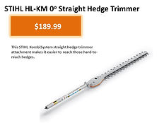 Stihl HL-KM Straight Hedge Trimmer Kombi Attachment For Sale   Seven Gables Power Equipment   Suffolk County Long Island NY