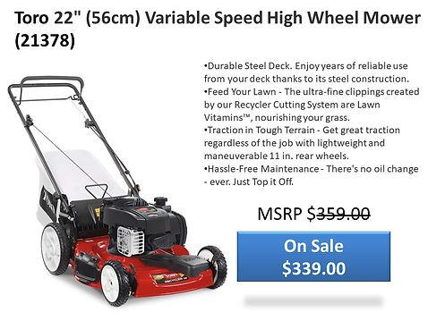 Toro 21378 Mower For Sale At Seven Gables Power Equipment | Smithtown 11787 NY