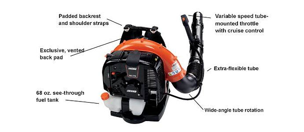 Echo PB-770T 63.3 cc Professional Grade Backpack Blower At Seven Gables