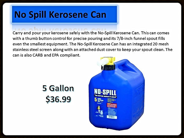 No Spill Kerosene Cans For Sale | Seven Gables Power Equipment | Long Island NY