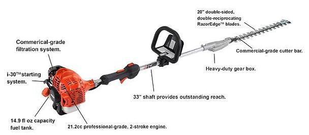 Echo SHC-225 Commercial Grade Hedge Trimmer At Seven Gables Power