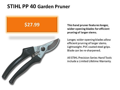 Stihl Hand Pruner For Sale At Seven Gables Power Equipment Conveniently Located In The Smithtown, Commack, Kings Park, Northport, East Northport, Dix Hills, Huntington, Melville, Central Islip, Islip, East Islip, Bayshore, Hauppauge, Ronkonkoma, Lake Ronkonkoma, St James, Setauket, Stony Brook, Lake Grove, Centereach, Holtsville, Selden, Islandia, Centerport, Roslyn, Massapequa, Syosset, Farmingdale, Bohemia, Patchogue, Babylon, West Babylon, Suffolk County, Long Island NY Area