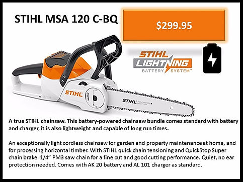 Stihl Battery Chain Saw For Sale At Seven Gables Power Equipment Conveniently Located In The Smithtown, 11787, Commack, 11725, Kings Park, 11754, Northport, 11768, East Northport, 11768, Dix Hills, 11746, Huntington, 11743, Melville, 11747, Central Islip, 11722, Islip, 11751, East Islip, 11730, Bayshore, 11706, Bay Shore, 11706, Hauppauge, 11788, Ronkonkoma, 11779, Lake Ronkonkoma, 11749, St James, 11780, Setauket, 11733, Stony Brook, 11790, Lake Grove, 11755, Centereach, 11720, Holtsville, 11742, Selden, 11784, Islandia, 11760, Centerport, 11721, Roslyn, 11576, Massapequa, 11758, Syosset, 11773, Farmingdale, 11735, Bohemia, 11716, Patchogue, 11722, Babylon, 11702, West Babylon, 11707, Suffolk County, Long Island NY Area