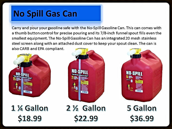 No Spill Gas Cans For Sale | Seven Gables Power Equipment | Long Island NY