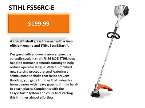 Stihl FS 56 RC-E Trimmer For Sale At Seven Gables Equipment Conveniently Located Near Me In The Smithtown, Commack, Kings Park, Northport, East Northport, Dix Hills, Huntington, Melville, Central Islip, Islip, East Islip, Bayshore, Hauppauge, Ronkonkoma, Lake Ronkonkoma, St James, Setauket, Stony Brook, Lake Grove, Centereach, Holtsville, Selden, Islandia, Centerport, Roslyn, Massapequa, Syosset, Farmingdale, Bohemia, Patchogue, Babylon, West Babylon, Suffolk County, Long Island NY Area