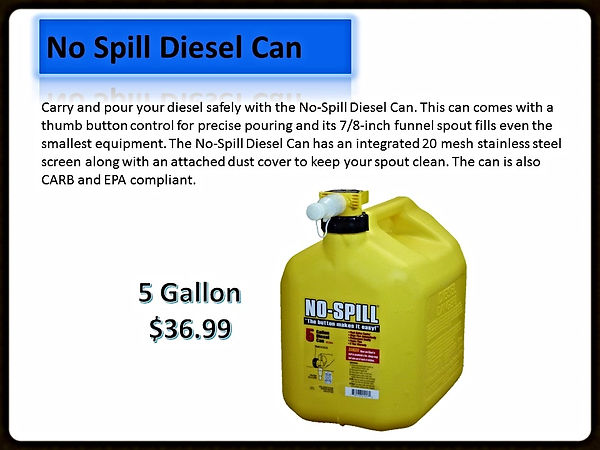 No Spill Diese; Cans For Sale | Seven Gables Power Equipment | Smithtown NY