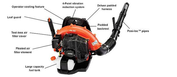 Echo PB-580H 58.2 cc Professional Grade BackpackBlower At Seven Gables