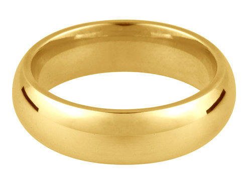 18ct Yellow Gold Thick Wedding Band
