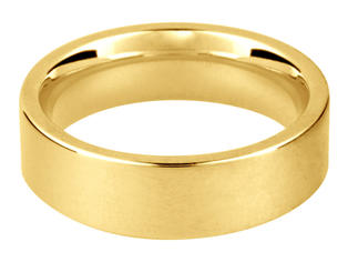 Flat Comfort Fit (yellow gold)