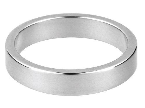 Sterling Silver Flat Wedding Ring