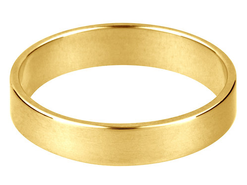 18k YellowGold Flat Wedding Ring- Thin