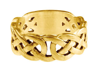 Mens Celtic Band (yellow gold)