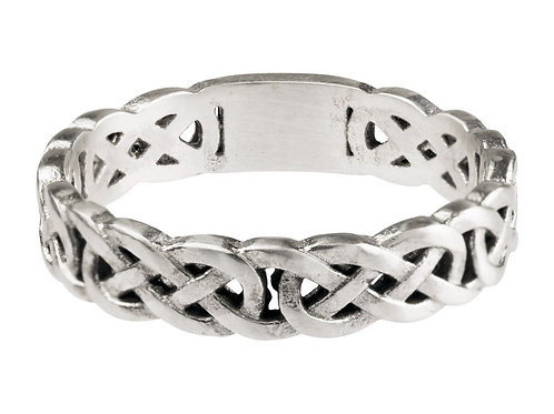 Sterling SIlver Celtic Wedding Band- Thin