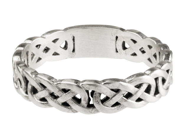 Womens Celtic Band (white gold)