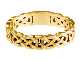 Womens Celtic Band (yellow gold)