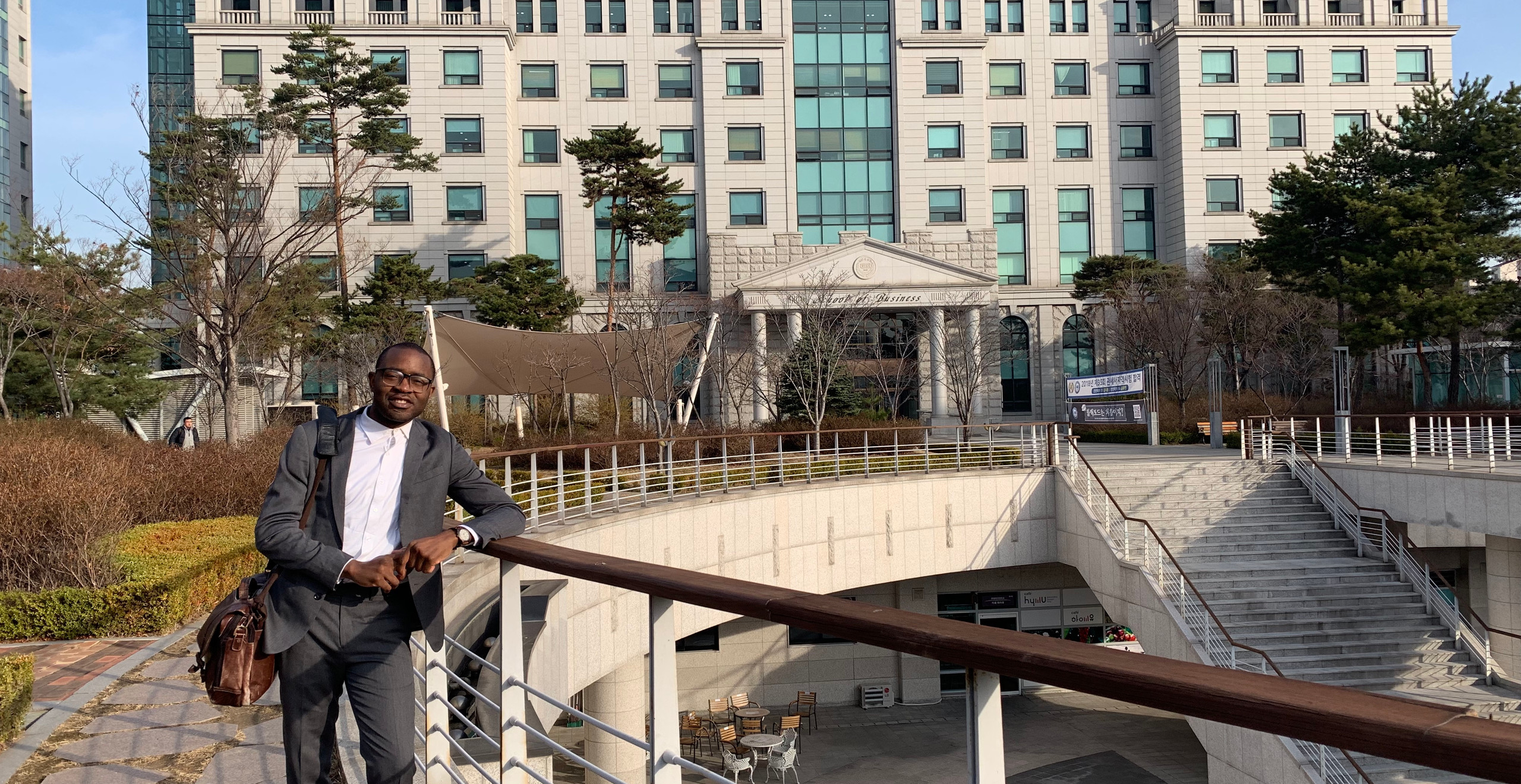 At Hanyang University School of Business in Seoul, South Korea