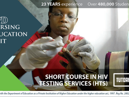 SHORT COURSE IN HIVTESTING SERVICES (HTS) - TUTORIAL