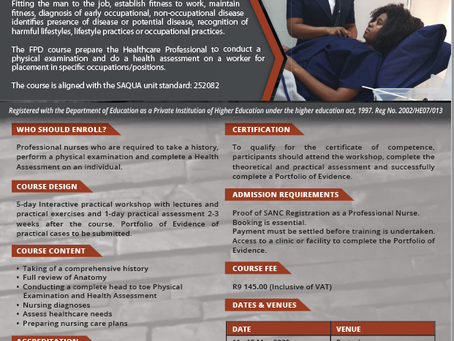 SHORT COURSE IN PHYSICAL EXAMINATION AND HEALTH ASSESSMENT SKILLS