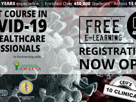 FREE E-Learning Short Course on COVID-19 for HSP's.