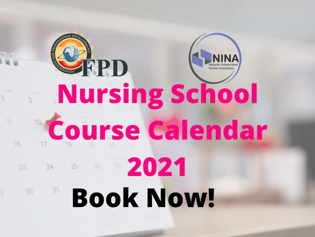 FPD Nursing School Calendar 2021