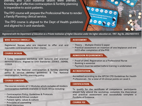 SHORT COURSE IN CONTRACEPTION AND FERTILITY PLANNING