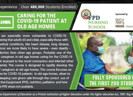 CARING FOR THE COVID-19 PATIENT AT OLD AGE HOMES