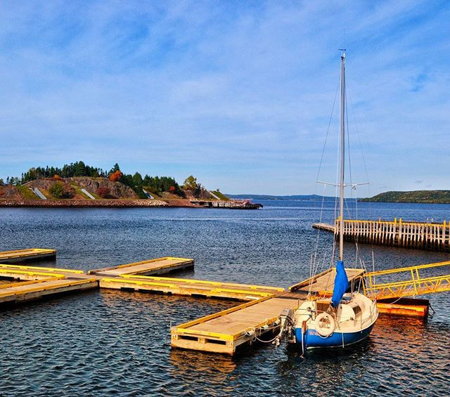 Our sailboat, Whitecap the 20' Nordica, was the last boat left in the Botwood marina.