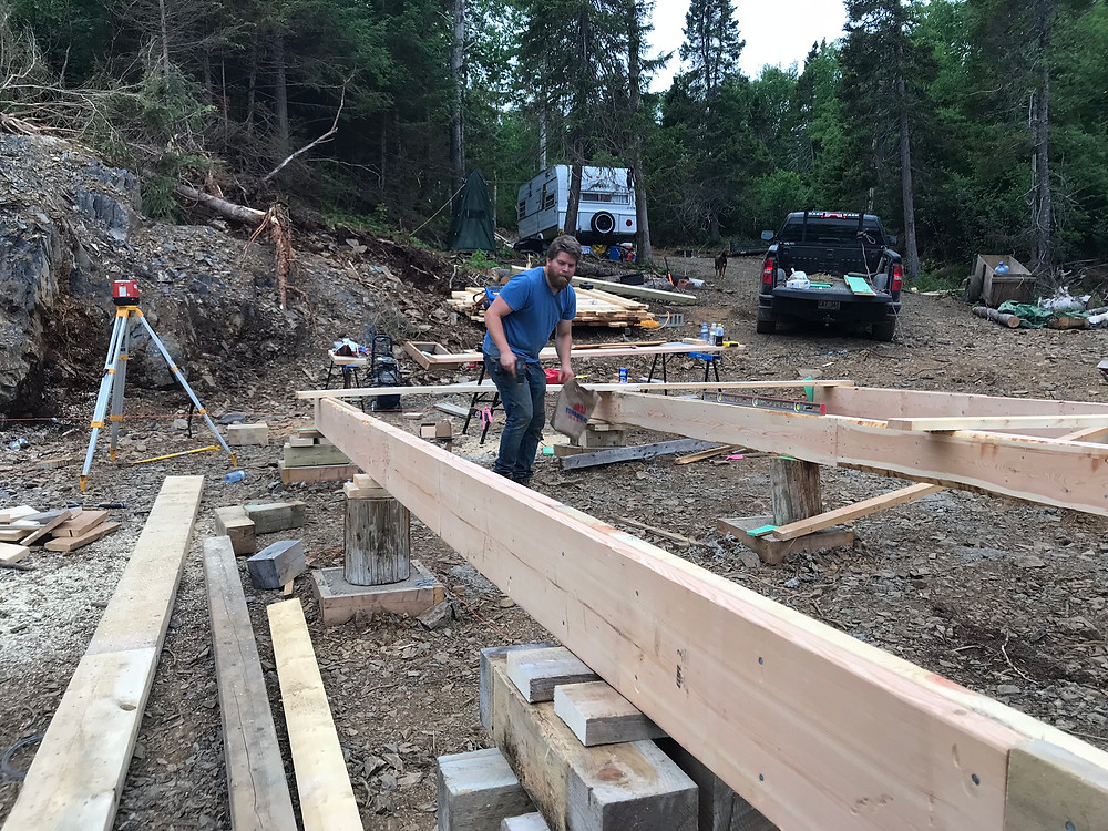 Stringer beam diy foundation for cabin