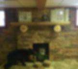 Large Cabin fireplace area