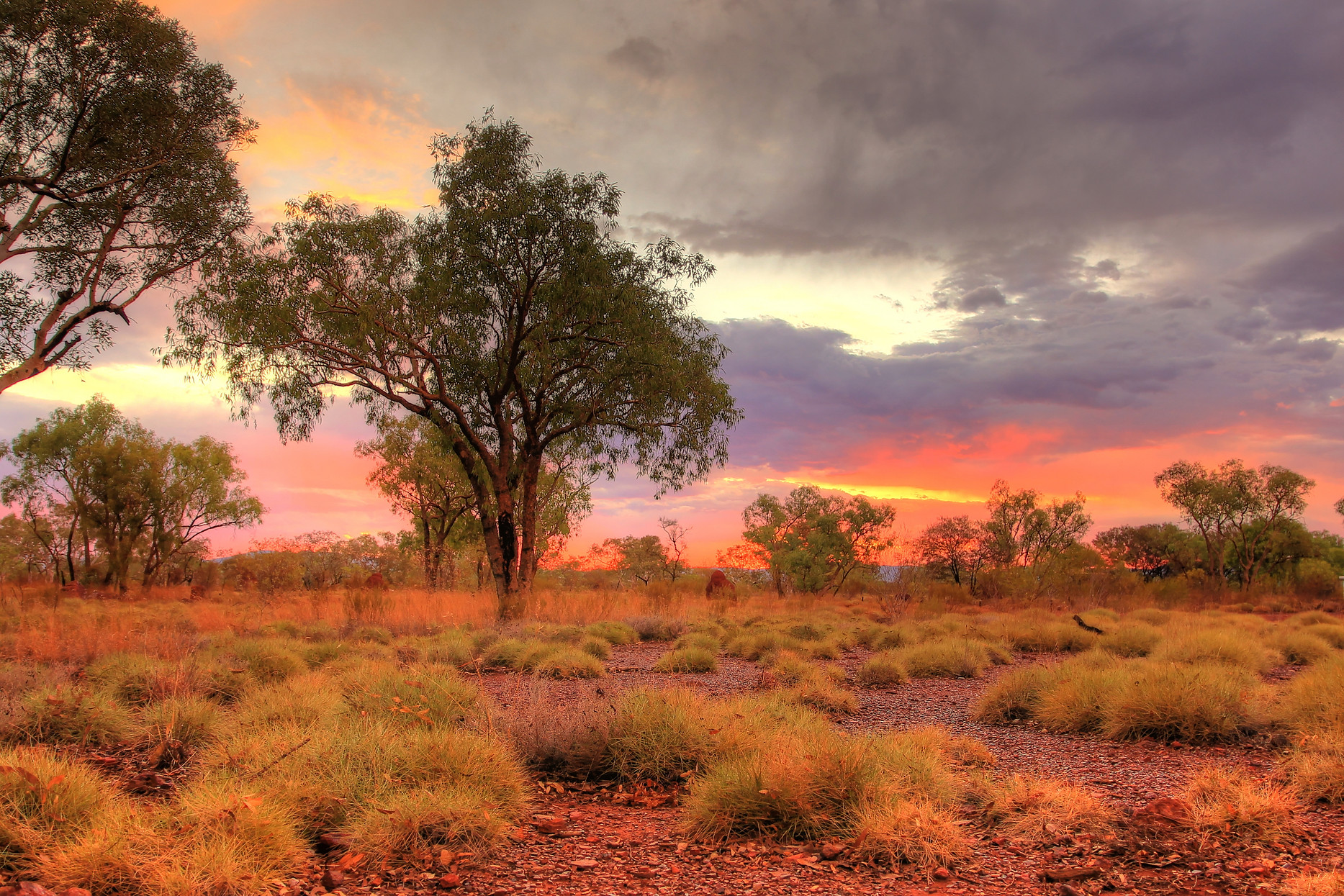 Serene sunset in the Kimberley after the