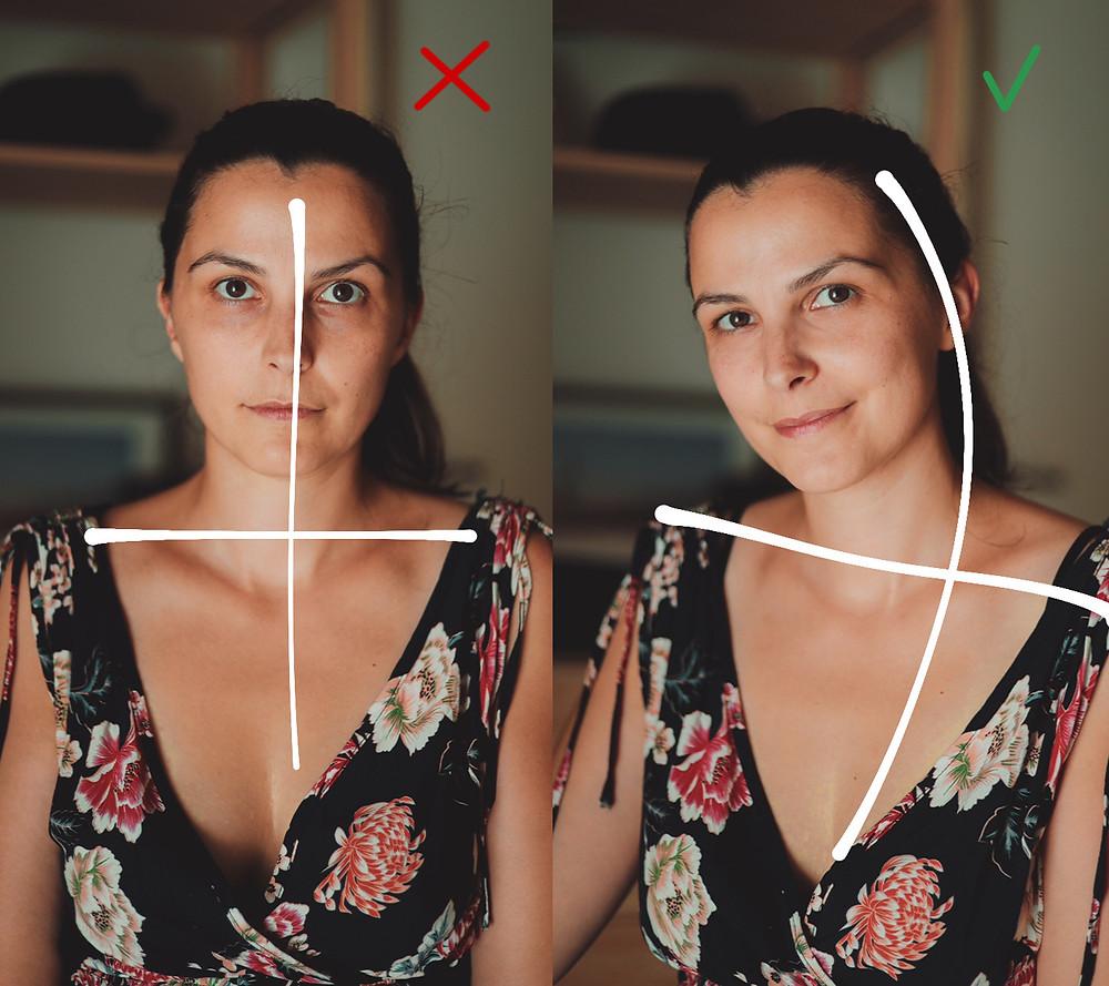 consigli per apparire più naturale in foto: crea delle curve con il corpo