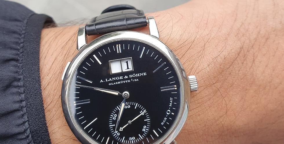 A. LANGE & SÖHNE, Langematik Sax-o-mat Watch 18k White Gold.