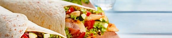 Premium Wraps, Sandwiches & Burgers