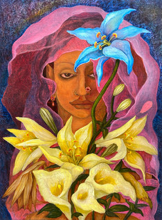 Blue Lily | Original painting is SOLD. Order your prints below!