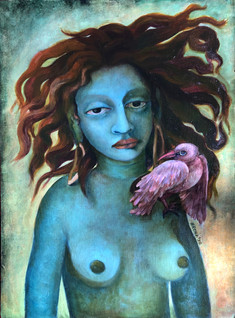The Bird | original painting is SOLD.